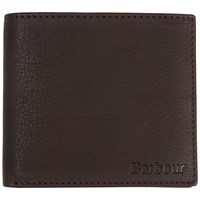 Barbour Leather Coin Wallet Dark Brown
