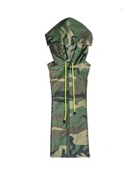 Veronica Beard Camo Print Hooded Dickey Green