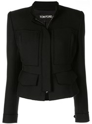 Tom Ford Fitted Zip Up Jacket Black