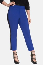 Eloquii 'Kady' Side Stripe Ankle Pants Plus Size Blue