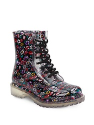 Chinese Laundry Rodie Floral Lace Up Rain Boots