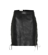 Stella Mccartney Faux Leather Miniskirt Black