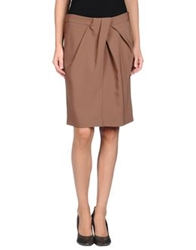 Hotel Particulier Knee Length Skirts Khaki
