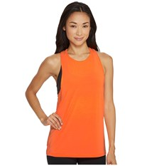 New Balance Boyfriend Tank Top Vivid Tangerine Heather Women's Sleeveless Orange