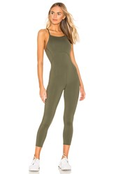 Free People Movement Side To Side Performance Jumpsuit Olive