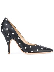 Moschino Polka Dot Pumps Women Leather 39 Black