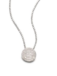 Phillips House 14K White Gold And Diamond Mini Infinity Pendant Necklace