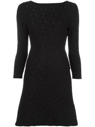 Fendi Fitted Geometric Jacquard Dress Black
