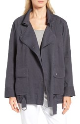Nordstrom Women's Collection Linen Blend Utility Jacket