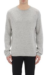 Vince. Men's Striped Cashmere Sweater Grey