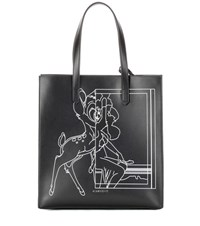 Givenchy Stargate Medium Printed Leather Shopper Black