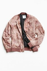 Urban Outfitters Uo Crinkly Nylon Summer Bomber Jacket Pink