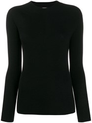 Stefano Mortari Long Sleeve Fitted Sweater Black