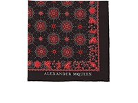 Alexander Mcqueen Skull Medallion Print Cotton Pocket Square Black
