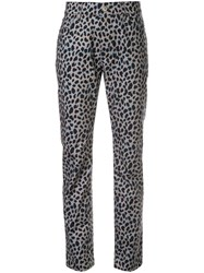 Loveless Slim Fit Leopard Print Pants Multicolour
