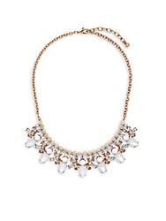 Cara Glass Crystal Necklace Gold Multicolor