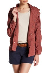 Supplies By Unionbay Lexi Twill Hooded Jacket Petite Red