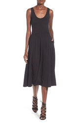 Leith Women's A Line Tank Midi Dress Black