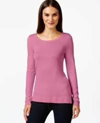 Inc International Concepts Scoop Neck Long Sleeve Sweater Only At Macy's Pink Sachet
