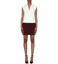 Reiss Harlow Contrast Wrap Dress Off White Junip
