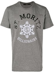 Billionaire Graphic Print T Shirt Grey