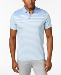 Alfani Men's Engineered Striped Polo Only At Macy's Yacht Blue