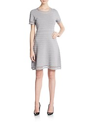 Karl Lagerfeld Lurex Stripe A Line Dress