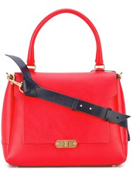 Anya Hindmarch Small Bathur Tote Women Calf Leather One Size Red