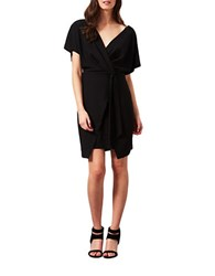 Miss Selfridge Kimono Wrap Dress Black