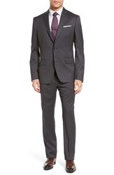 John W. Nordstrom Classic Fit Solid Wool Suit Charcoal