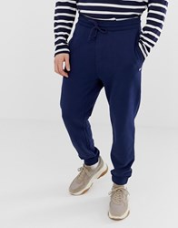 Tommy Jeans Classic Fit Cuffed Jogger With Icon Logo In Navy