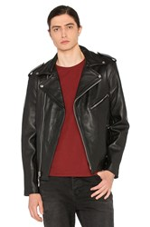 Understated Leather Easy Rider Mc Jacket Black