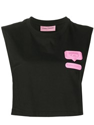 Chiara Ferragni Cropped Patch Embellished Muscle T Shirt 60