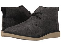 Toms Mateo Chukka Boot Charcoal Herringbone Men's Lace Up Boots Black