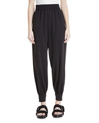 Marc Jacobs Tapered Legs Pull On Jogger Pants Black
