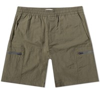 Norse Projects Luther Tech Cargo Short Green