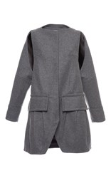 Antonio Berardi Pleated Oversized Coat Grey