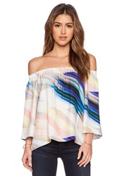 Amanda Uprichard Nirvana Top Blue