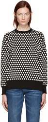 Edit Black And White Polka Dot Sweater