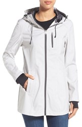 Women's Nautica Print Hooded Soft Shell Coat Sail Cream Chrome