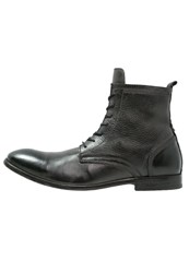 Hudson H By Swathmore Laceup Boots Black