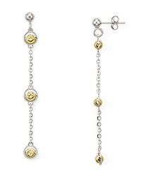 Officina Bernardi Beaded Drop Earrings Silver Gold