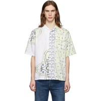 Levi's Levis Made And Crafted White And Yellow Camp Shirt
