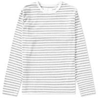 Nanamica Coolmax Long Sleeve Stripe Jersey Tee Grey