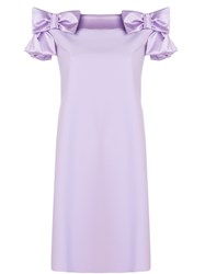31c4953aa90 La Petite Robe Di Chiara Boni Bow Embellished Flared Dress Pink And Purple
