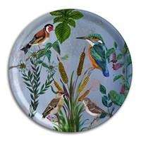 Avenida Home Nathalie Lete Birds In The Dunes Round Tray Kingfisher