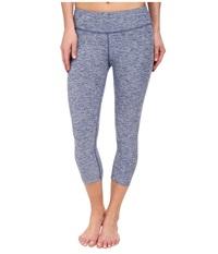 Beyond Yoga Capri Legging Twilight Blue Spacedye Women's Capri Gray
