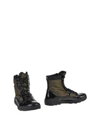 O.X.S. Ankle Boots Military Green