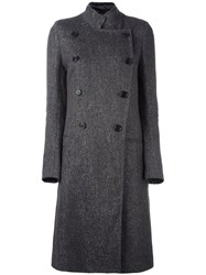 Ann Demeulemeester Double Breasted Coat Grey