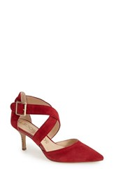 Women's Sole Society 'Tamra' Pointy Toe Pump Holiday Red Suede